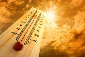 thermometer showing very hot temperature