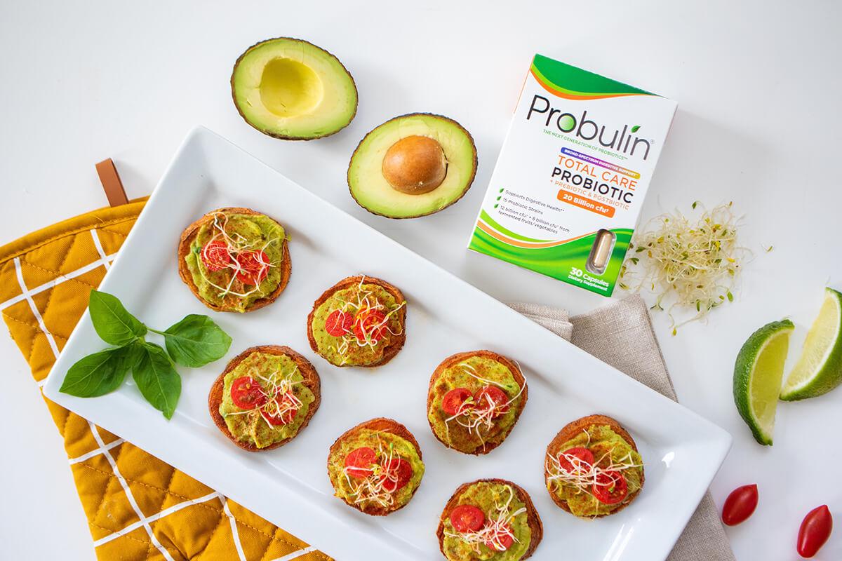 Sweet Potato Avocado Bites with Probulin Total Care